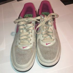 Nike Air Force 1 pink and beige